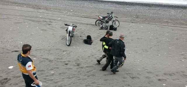 Motosikletle şov kazayla sonuçlandı