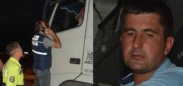 Polisi görünce kendini TIR'a kilitledi