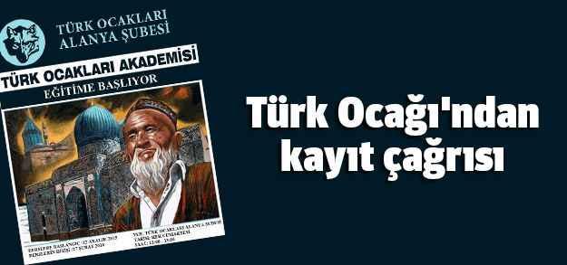 Türk Ocağı'ndan kayıt çağrısı