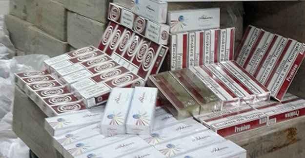 Bir milyonluk kaçak sigara ele geçirildi