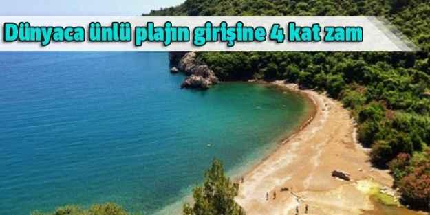 Dünyaca ünlü plajın girişine 4 kat zam