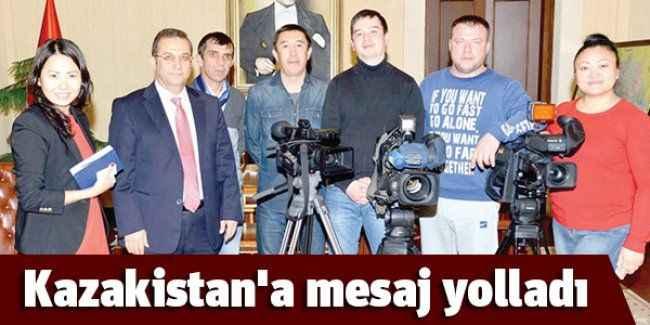 Kazakistan'a mesaj yolladı