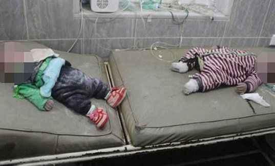 Hava saldırısında ikiz bebekler öldü