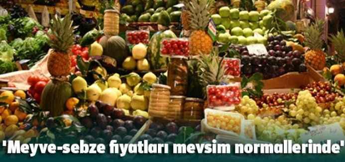 'Meyve-sebze fiyatları mevsim normallerinde'