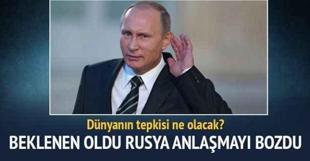 Rusya, Suriye'deki ateşkesi ihlal etti!