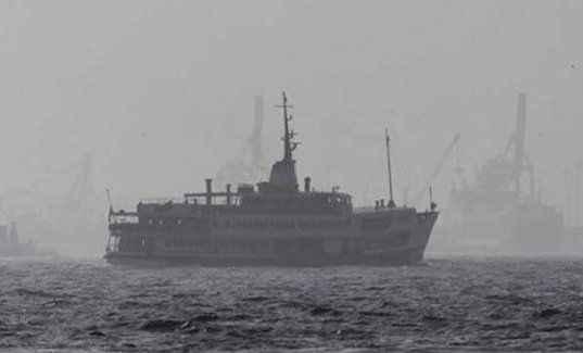 Gemi trafiğine sis engeli