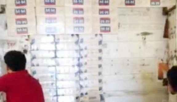 TIR'da 15 bin kaçak sigara ele geçirildi