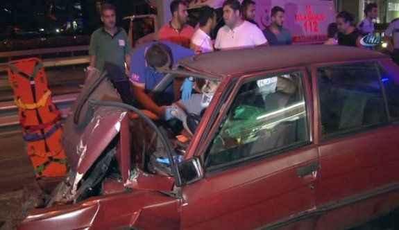 Düğün konvoyunda zincirleme kaza: 3 yaralı