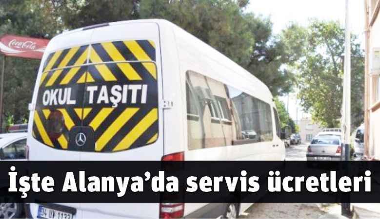 Alanya'da servis ücretleri belirlendi