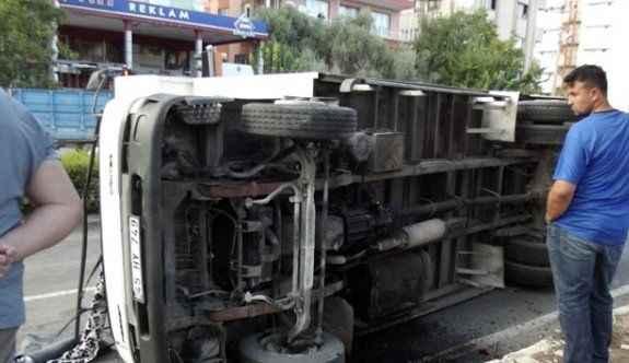 Freni tutmayan kamyon faciaya neden oluyordu