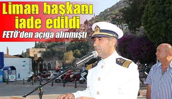 Alanya Liman Başkanı göreve iade edildi