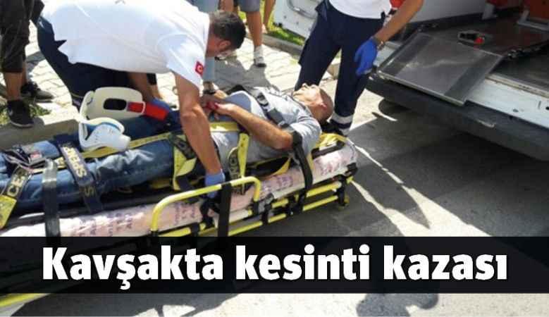 Kavşakta kesinti kazası