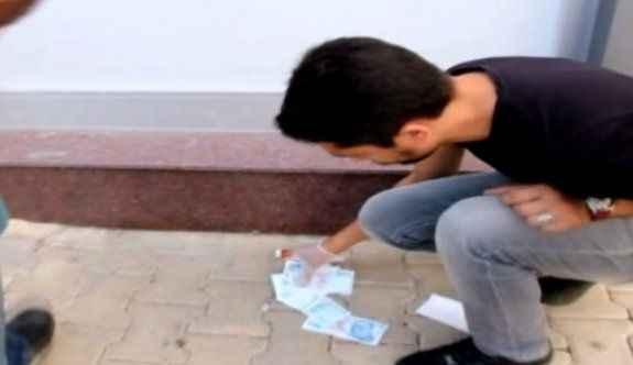 Çöpten 100 TL'lik banknotlar çıktı