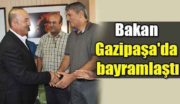 Bakan Gazipaşa'da bayramlaştı