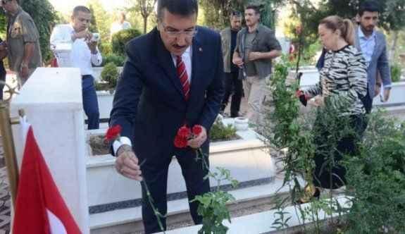 Bakan Tüfenkci'den şehitlik ziyareti