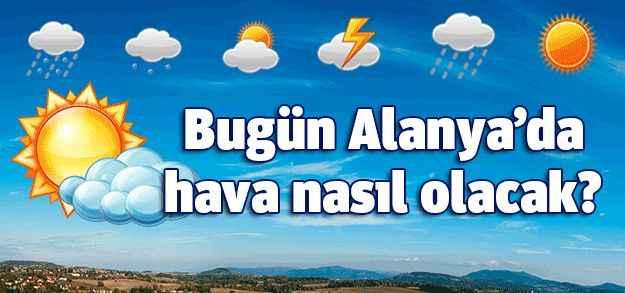 13 Eylül 2016 Antalya - Alanya hava durumu