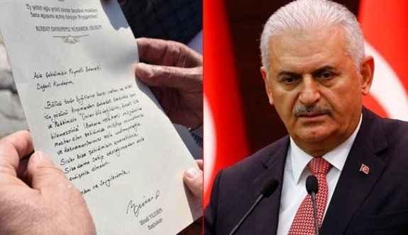 Başbakan'dan şehit ailelerine el yazısıyla mektup