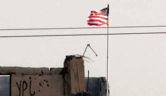 ABD bayrağını o binaya da astılar