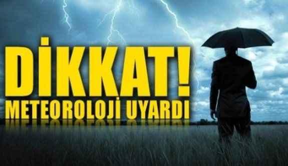 Alanya'da sağanak yağış uyarısı