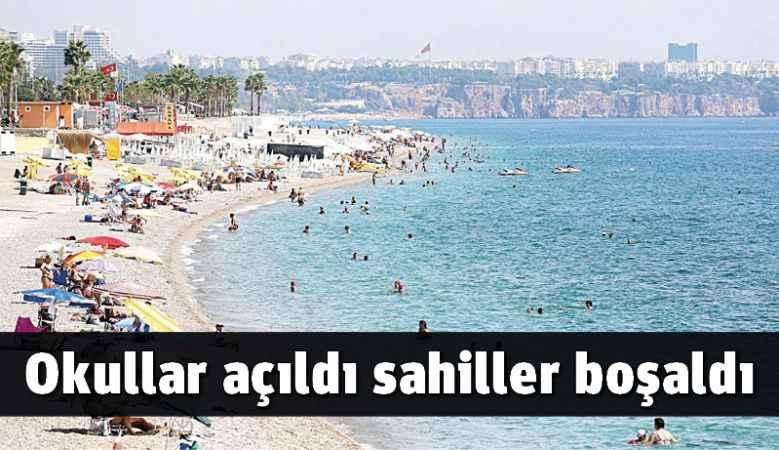 Okullar açıldı sahiller boşaldı