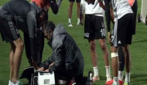 Beşiktaşlı futbolcu kanlar içinde yerde kaldı