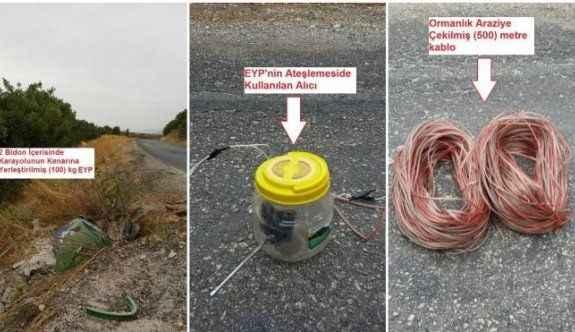 Çivi ile güçlendirilmiş 100 kilo bomba ele geçirildi