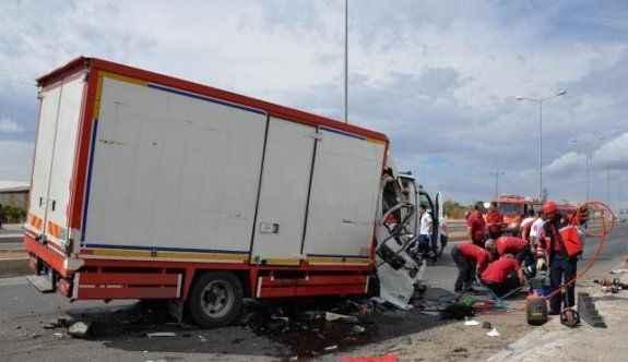Kaza: 1ölü, 7 yaralı