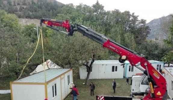 Evi yanan 13 aileye afet konutu yapılacak