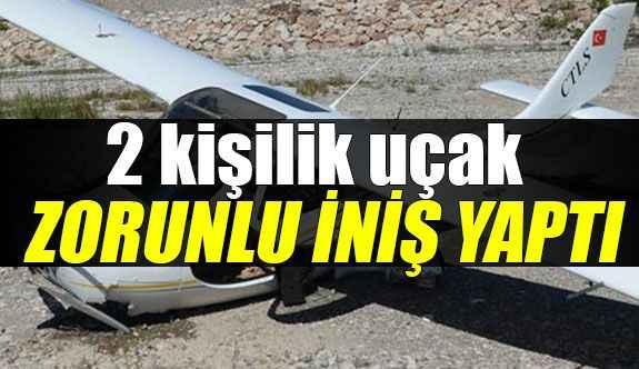 Antalya Boğaçayı'na uçak zorunlu iniş yaptı!