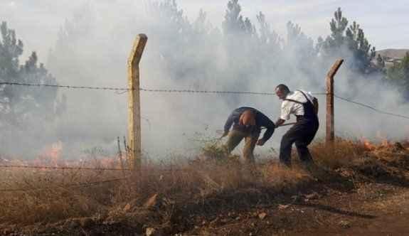 Orman yangınına vali müdahale etti