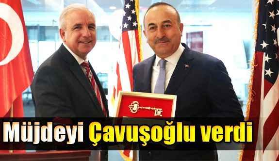 Müjdeyi Çavuşoğlu verdi