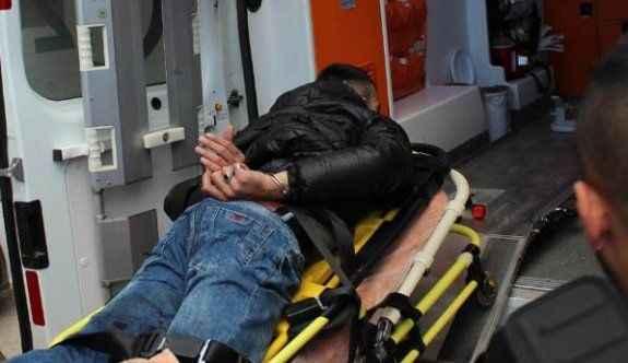 Kuyumcu soyguncusu bacağından vuruldu