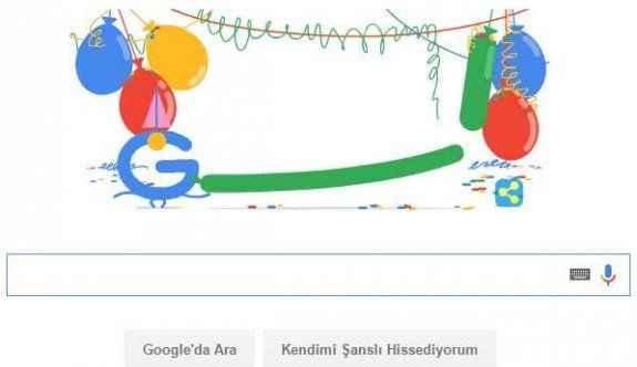 Google bu kez kendisini ''doodle'' yaptı!