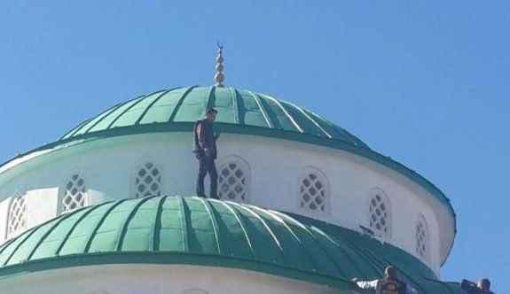 Cami kubbesinde intihar girişimi