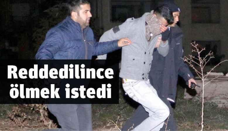 Antalya'da eşi reddedince intihara kalkıştı