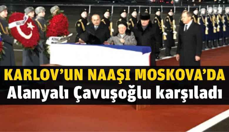 Çavuşoğlu Karlov'un naaşını karşıladı