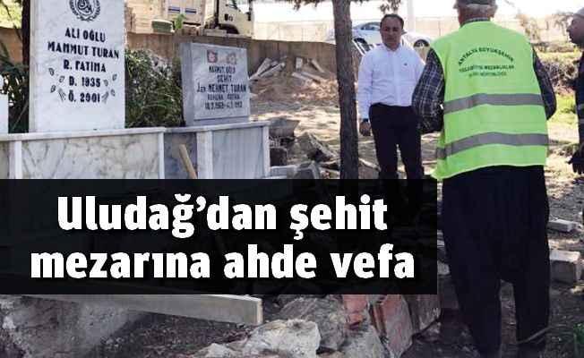 Uludağ'dan şehit mezarına ahde vefa