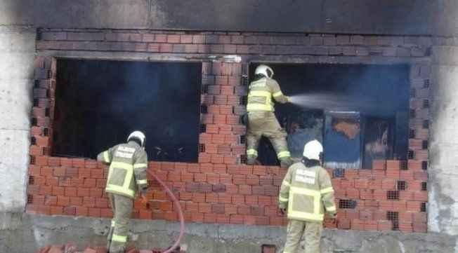 FETÖ'nün inşaat halindeki okulunda yangın çıktı