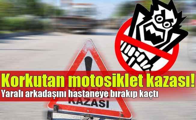Alanya'da korkutan motosiklet kazası!