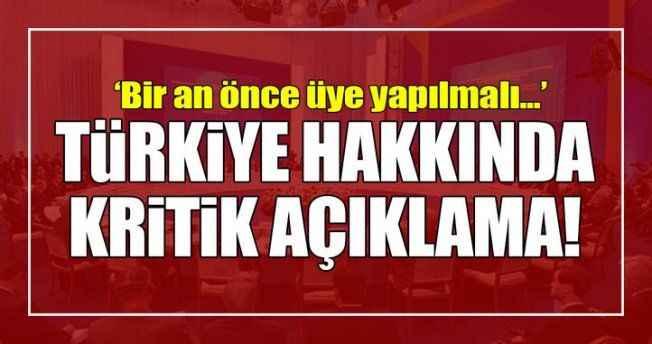 Türkiye hakkında kritik açıklama