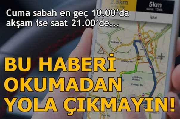 Ramazan Bayramı'nda trafiğe yakalanmayın!