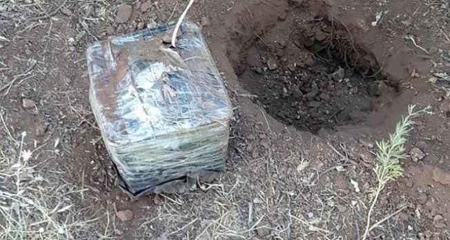 Araziye döşenmiş el yapımı patlayıcı bulundu