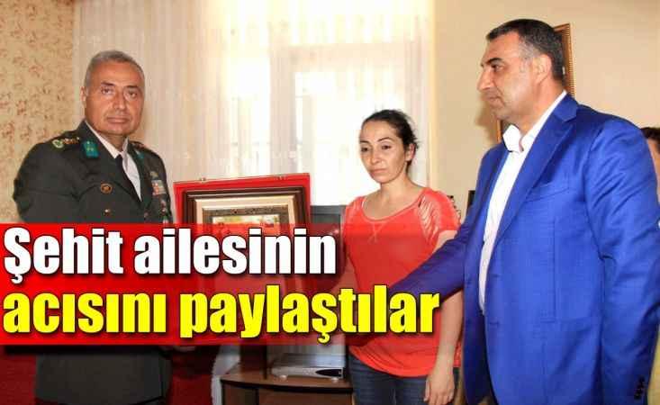 Kaymakam Harputlu'dan şehit ailesine ziyaret