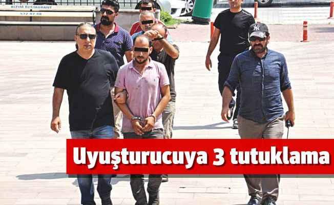 Gazipaşa'da uyuşturucuya 3 tutuklama