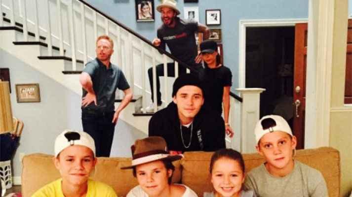 Beckham ailesi bir arada