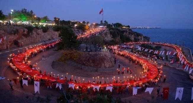 Antalya'da Cumhuriyet'in 94'üncü yıldönümü