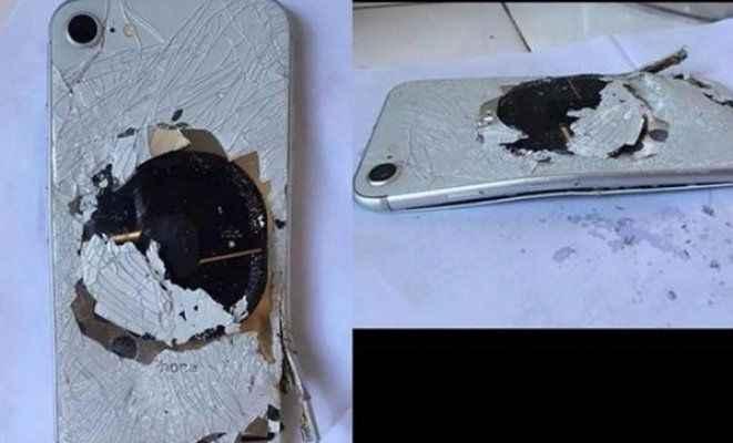 Şarja takılan iphone 8 patlamış halde bulundu!