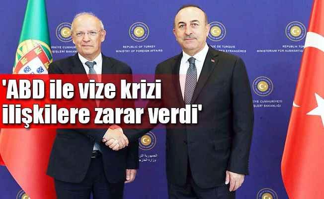 Çavuşoğlu, Portekizli mevkidaşı ile görüştü