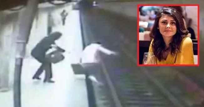 Kan donduran anlar! Tren perona girince genç kadını raylara itti