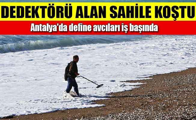 Antalya'da plajlara defineavcısı akını